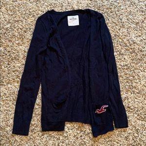 Navy hollister cardigan